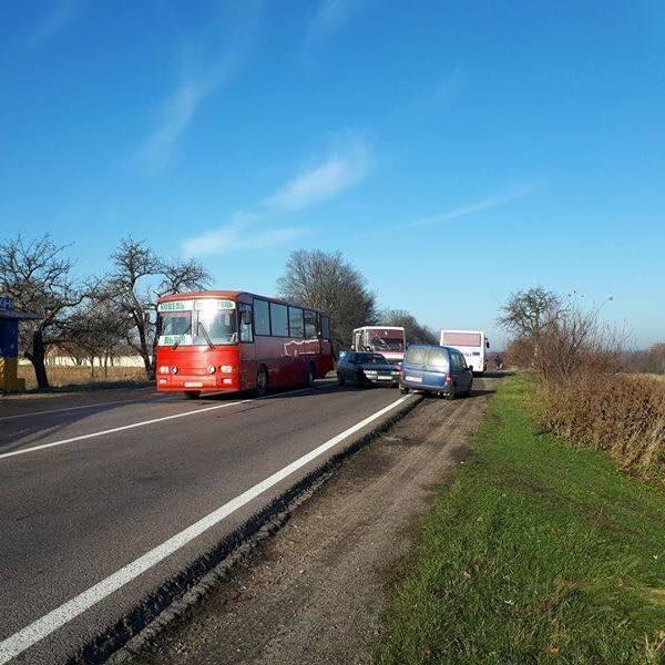 На Львівщині зіткнулися два автобуси