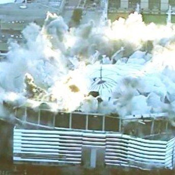 В США з допомогою вибухівки демонтували стадіон: вражаюче відео