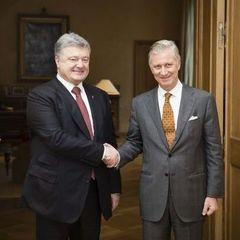 Король Бельгії розповів Порошенку, як у 1990-му спав на підлозі у звичайній київській квартирі