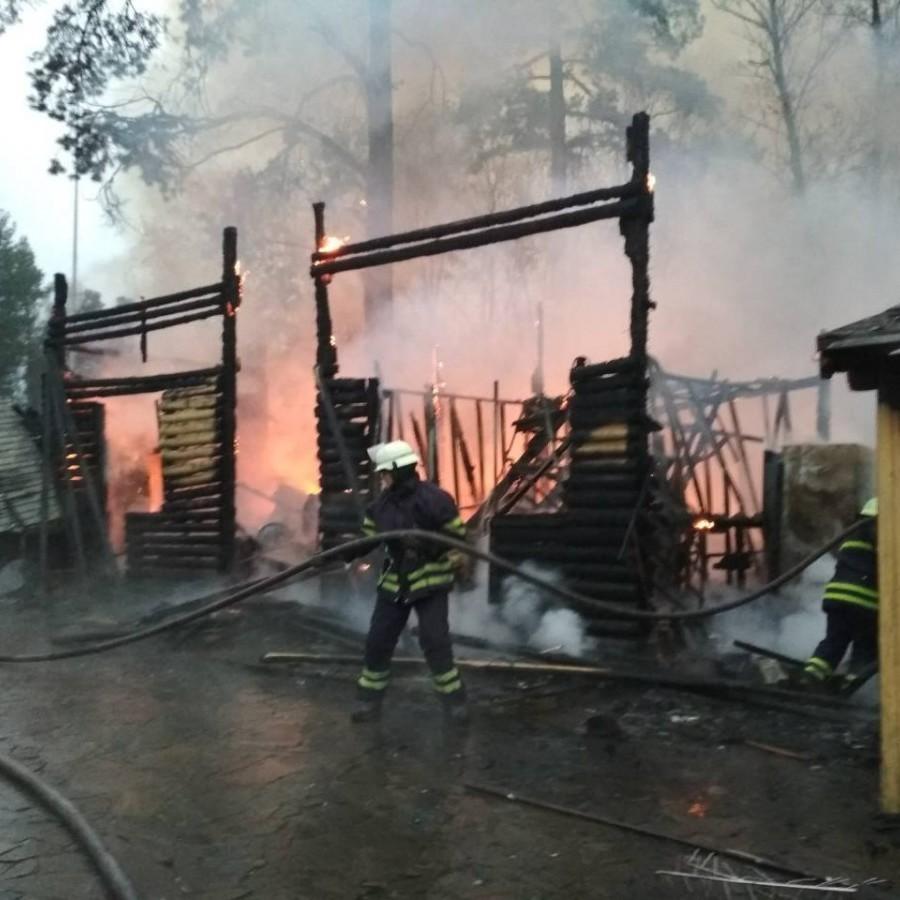 Неподалік від Києва горить ресторанний комплекс (фото)