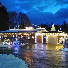 20 тис. лампочок: у Фінляндії батько з донькою прикрасили будинок до Різдва (відео)