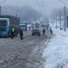 Сніговий полон. ДСНС задіє авіацію для виявлення заторів на дорогах