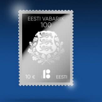 Естонія на честь 100-річчя республіки випустить поштову марку із срібла