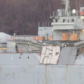 Російський десантний корабель зіткнувся із суховантажем в Егейському морі