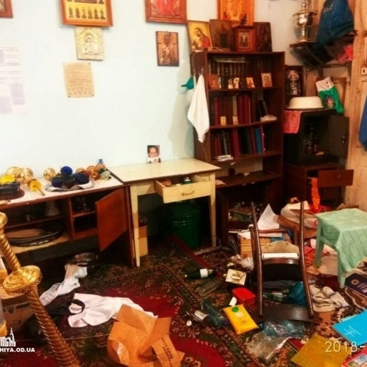 На Одещині розтрощили і осквернили храм Московського патріархату (фото)