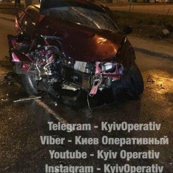 У Києві підполковник поліції потрапив у серйозну аварію, – соцмережі