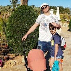 Сергій Притула відпочиває із сім'єю в Єгипті (фото)