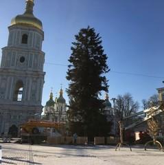 У Києві демонтують головну ялинку країни