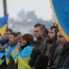 На мосту Патона у Києві активісти утворили «живий ланцюг Соборності»