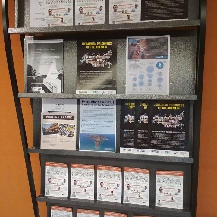 Брошури про ув'язнених Росією українців представили на зимовій сесії ПАРЄ