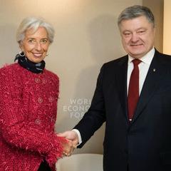 Порошенко після зустрічі з Лагард: Україна продовжуватиме співпрацю з МВФ