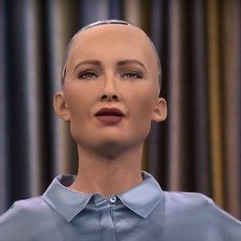 Робот Софія зламався під час відповіді на питання про корупцію в Україні