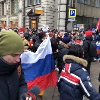 У Москві під час страйку співали відому пісню про Путіна