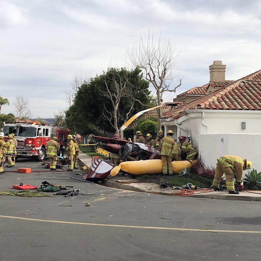 У Каліфорнії вертоліт впав на будинок, є загиблі