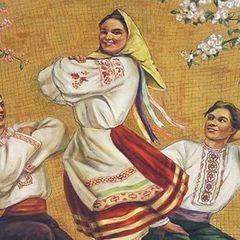 На станції метро «Київська» в Москві українці на фресці поверх вінка намалювали хустку