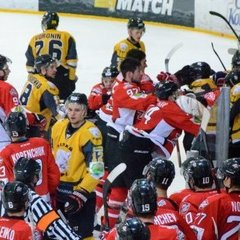 Українські хокеїсти влаштували масову бійку під час гри (відео)