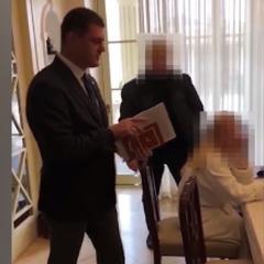 НАБУ опублікувало відео затримання екс-керівника Адміністрації морських портів України