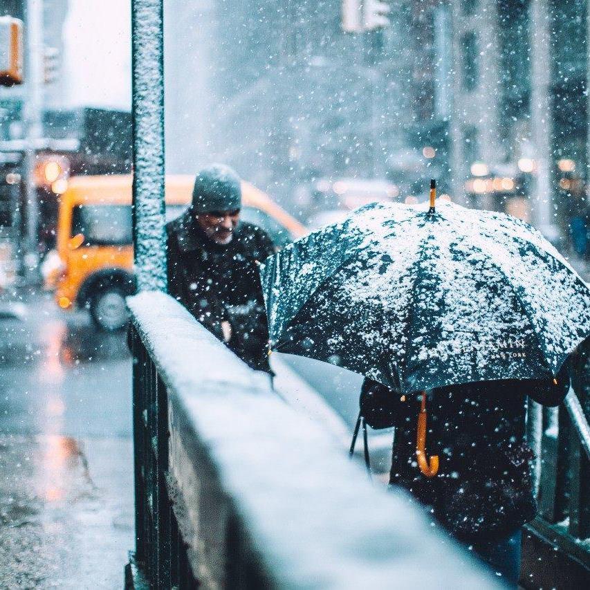 Погода: на більшій частині території України сніжитиме, температура вдень до +9