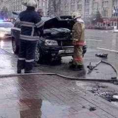 На бульварі Лесі Українки на ходу загорівся автомобіль