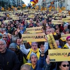У Барселоні протестували десятки тисяч прихильників незалежності Каталонії
