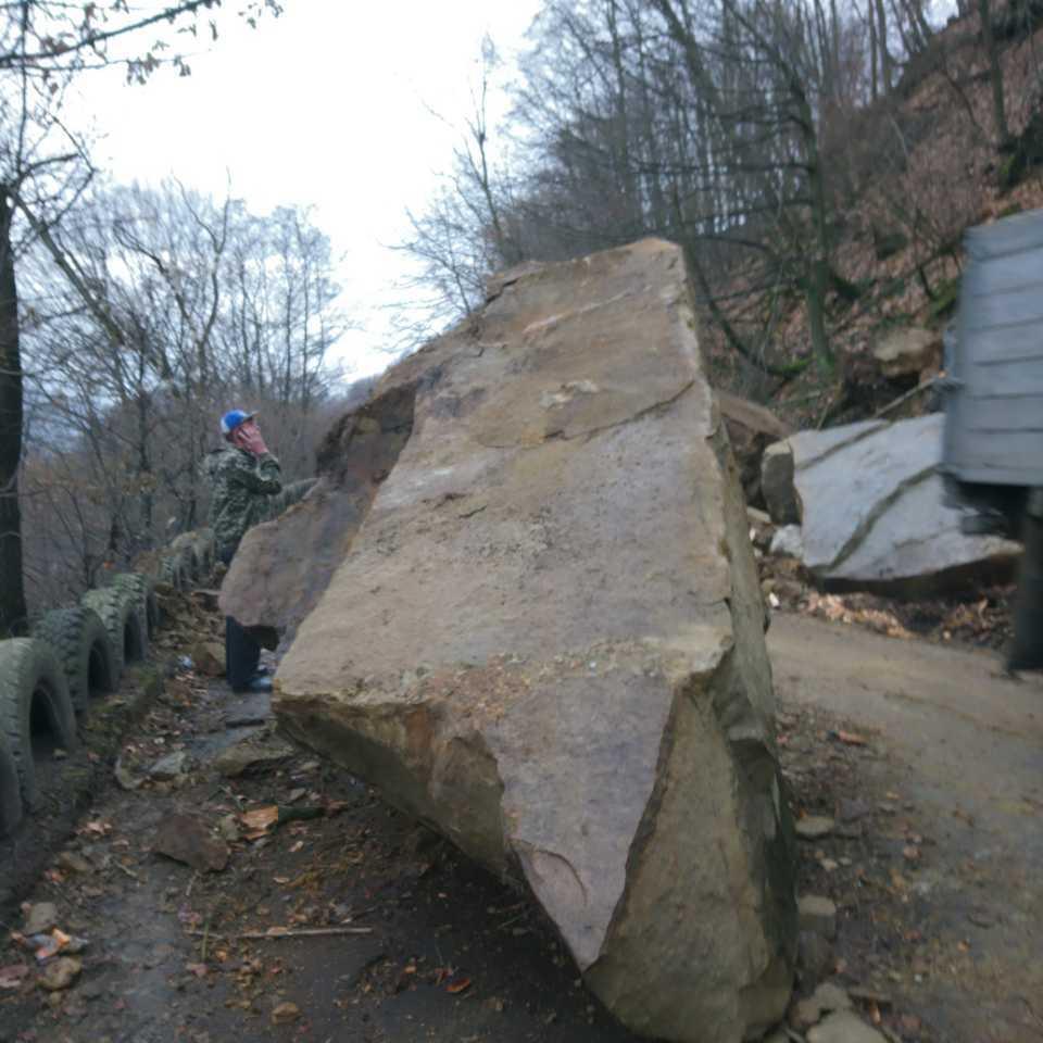 У Закарпатті на автодорогу зійшов селевий потік та кам'яна порода (фото)