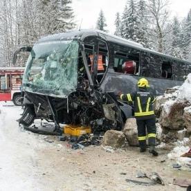 Щонайменше 30 туристів постраждали в автобусній аварії в горах Австрії