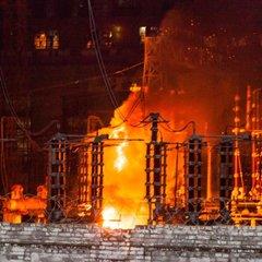 У Дніпрі вночі сталося займання на Придніпровській ТЕС (фото)