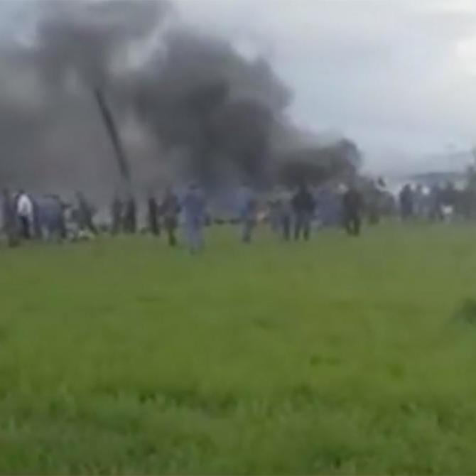 З'явилися фото і відео з місця падіння військового літака в Алжирі