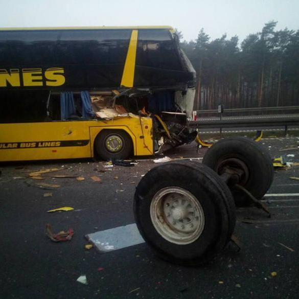 У Польщі в ДТП потрапив автобус з українцями (фото)