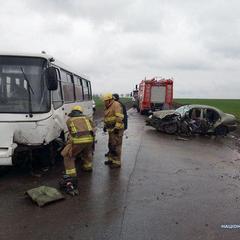 Смертельна автокатастрофа на Донеччині: Daewoo Lanos врізався в автобус (фото)