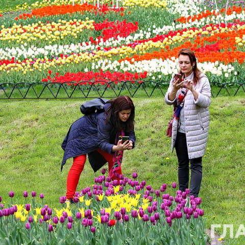 У Києві працює виставка тюльпанів (фоторепортаж)