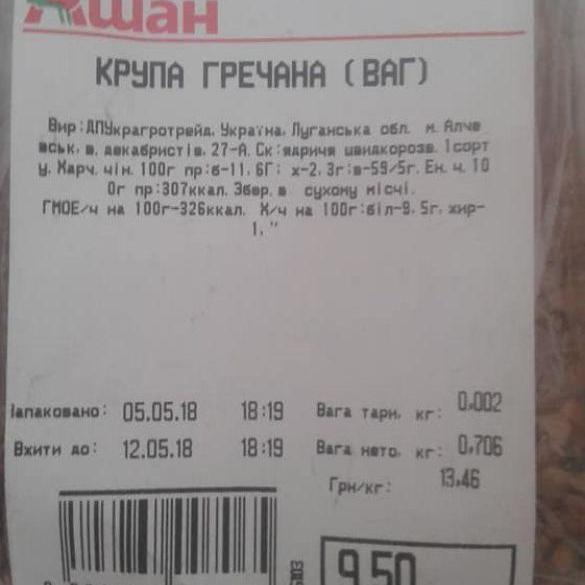У гіпермаркеті Києва пояснили появу гречки з «ЛНР» (фото)