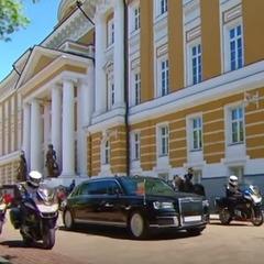 На інавгурацію Путін приїхав на російському лімузині, який вперше показали публіці (відео)