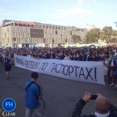 У Дніпрі побилися вболівальники: 20 затриманих, постраждав поліцейський