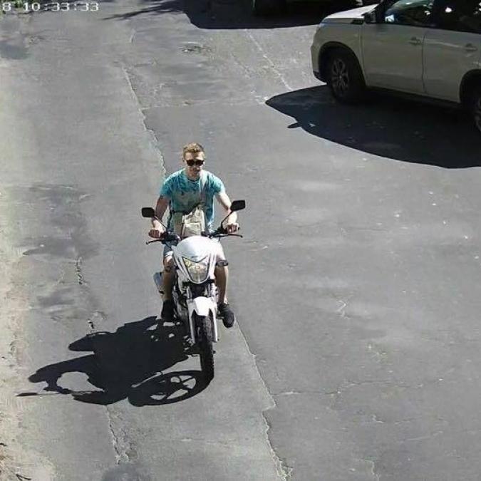 З'явилося фото викрадача мотоцикла брата Найєма