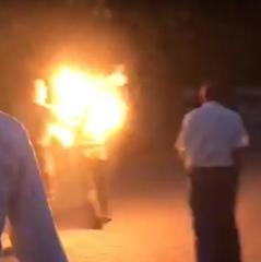 У центрі Луцька чоловік підпалив себе під час концерту (відео)