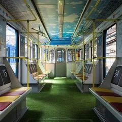 У Київському метро курсуватиме вагон-стадіон (фото)