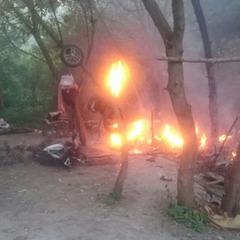 У Тернопільській області група невідомих спалила табір ромів