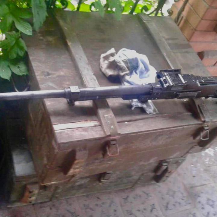 На Світлодарській дузі українські військові захопили кулемет Калашникова бойовиків (фото)