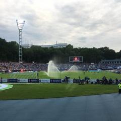 Логотип «Газпрому» помітили на першому матчі фіналу ЛЧ