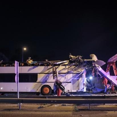 У Будапешті туристичний автобус з України потрапив у серйозну ДТП