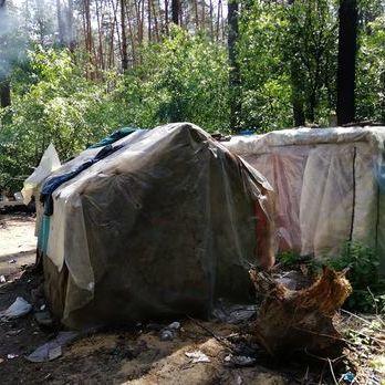 Поліція Києва відкрила кримінальне провадження щодо активістів, які розтрощили табір ромів у Голосіївському парку