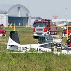 У Польщі розбився український літак: фото