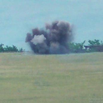 Опубліковане відео ракетного удару українських бійців по позиціях бойовиків на Донбасі