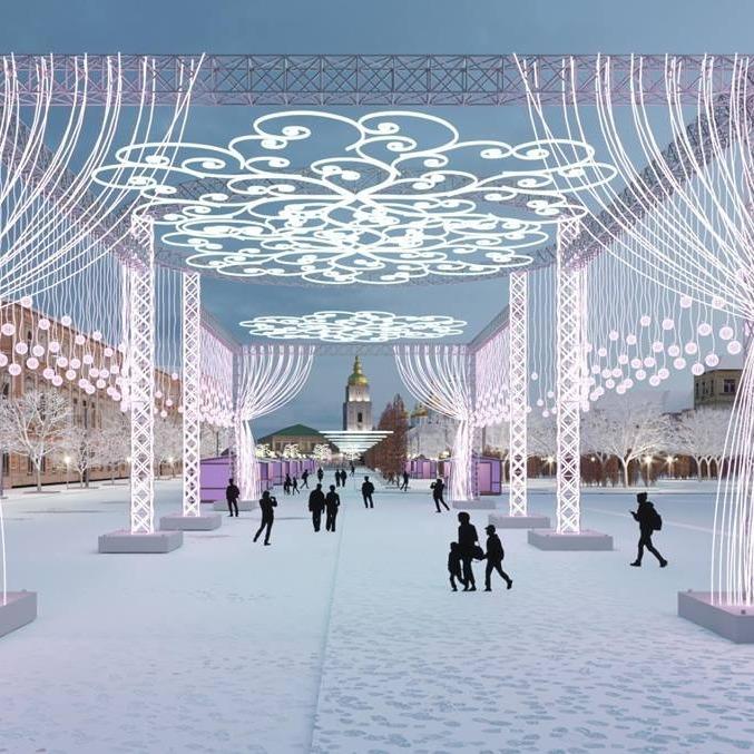 Як буде виглядати новорічний Київ: з'явилися перші фото