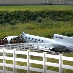 УСША літак після приземлення розвалився навпіл