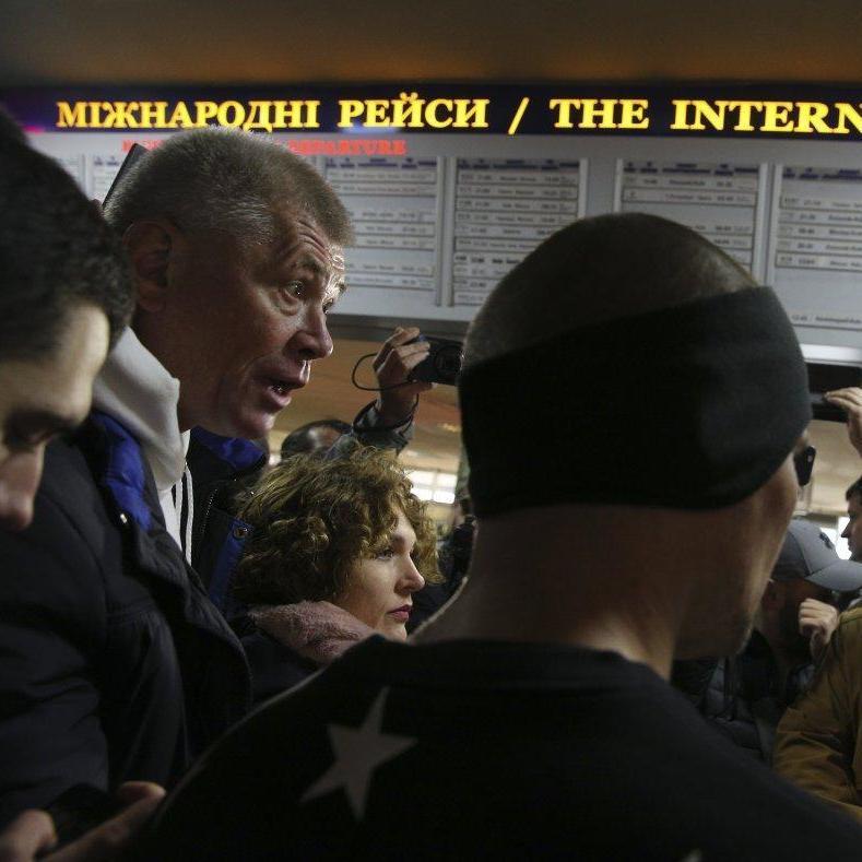 На автовокзалі Києва радикали С14 влаштували акцію проти перевізників (фото)