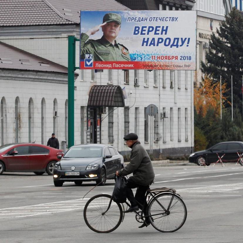 На окупованому Донбасі окупанти організували продаж продуктів на «виборчих дільницях» (фото)