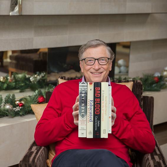 Білл Гейтс вибрав п'ять кращих книг 2018 року