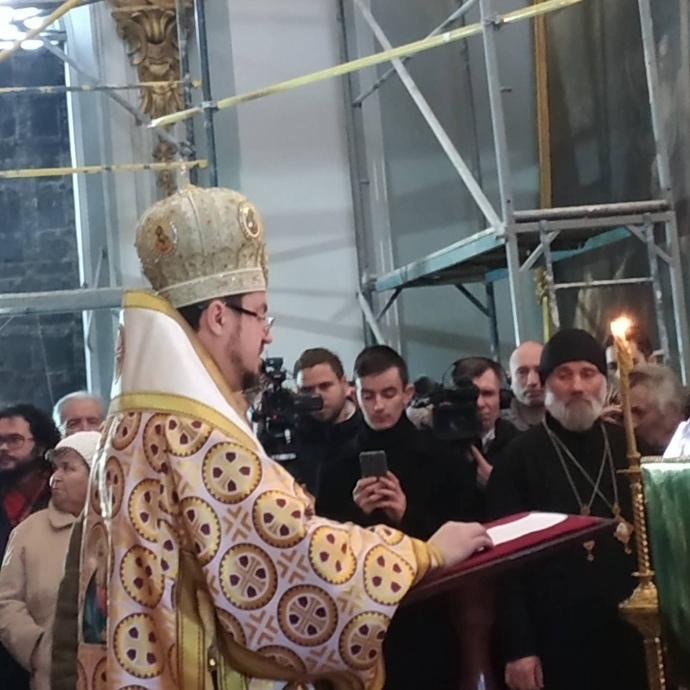 На літургію Вселенського патріархату в Києві прийшли кілька десятків людей